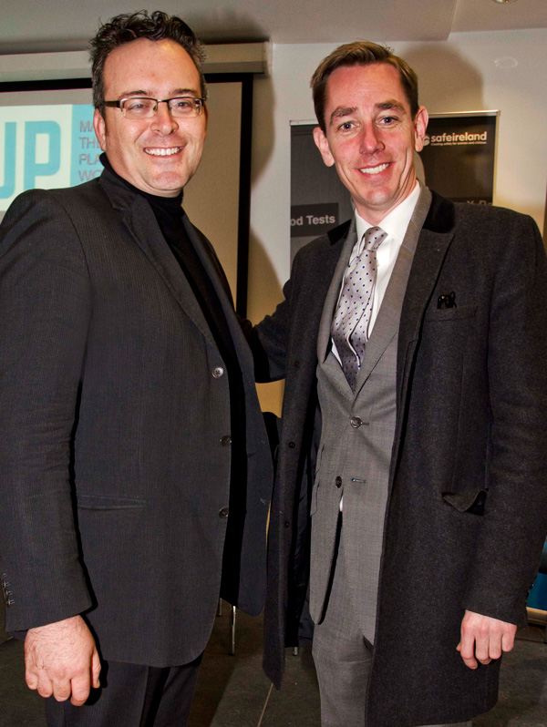 Photographer Andrea Zipoli and Ryan Tubridy at the MAN UP 2014 launch